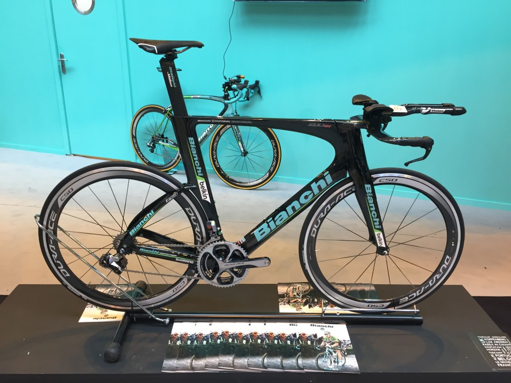 Bianchi Aquila CV Triathlon Bike - The Cycle Show 2014
