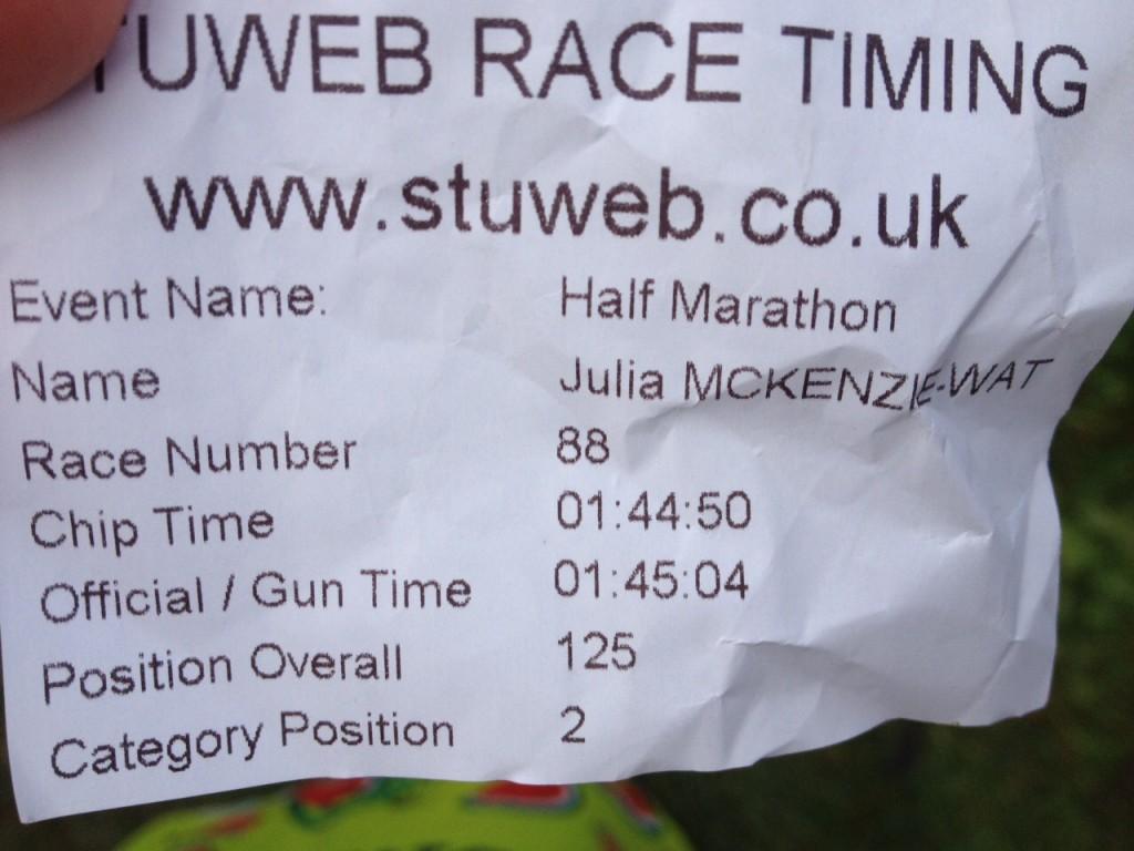 Julia Droitwich Half Marathon 2014