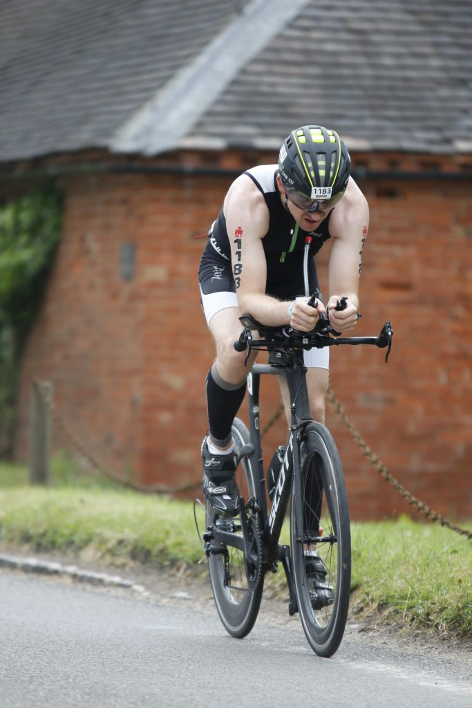 Ironman 70.3 Staffordshire 2016 Front on on the bike