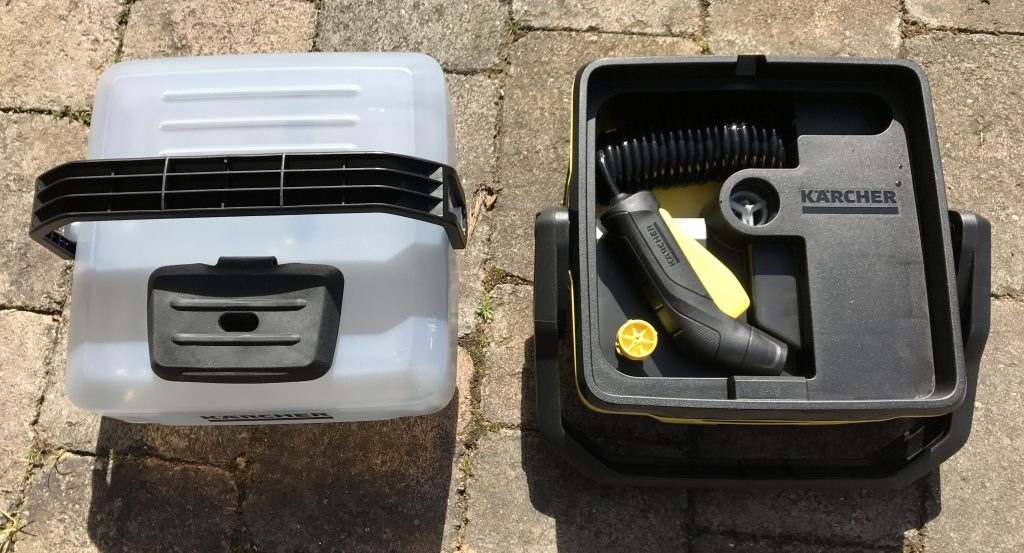 Kärcher OC3 Mobile Outdoor Cleaner - Split in two