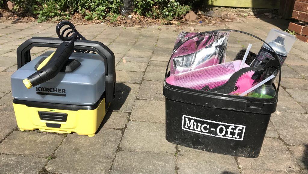Kärcher OC3 Mobile Outdoor Cleaner vs Muc Off Bike Cleaner