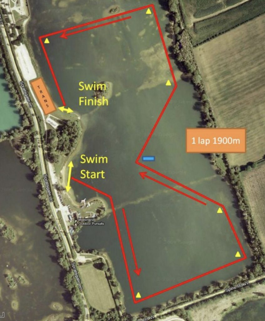 Cotswold113 Swim Course