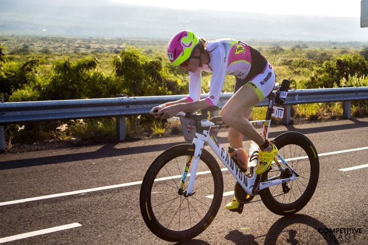 Leanda Cave on the Bike - Ironman 2014 World Championship