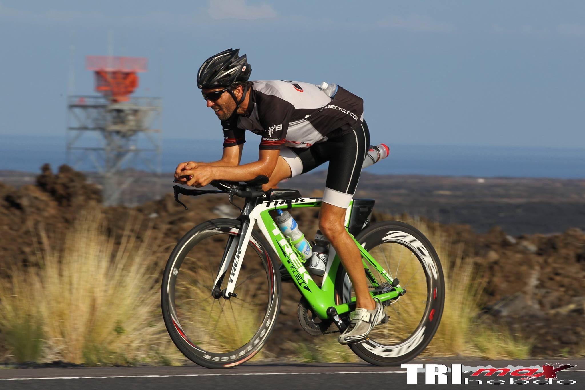 Trek Speed Concept - Green, White and Black Colour Scheme