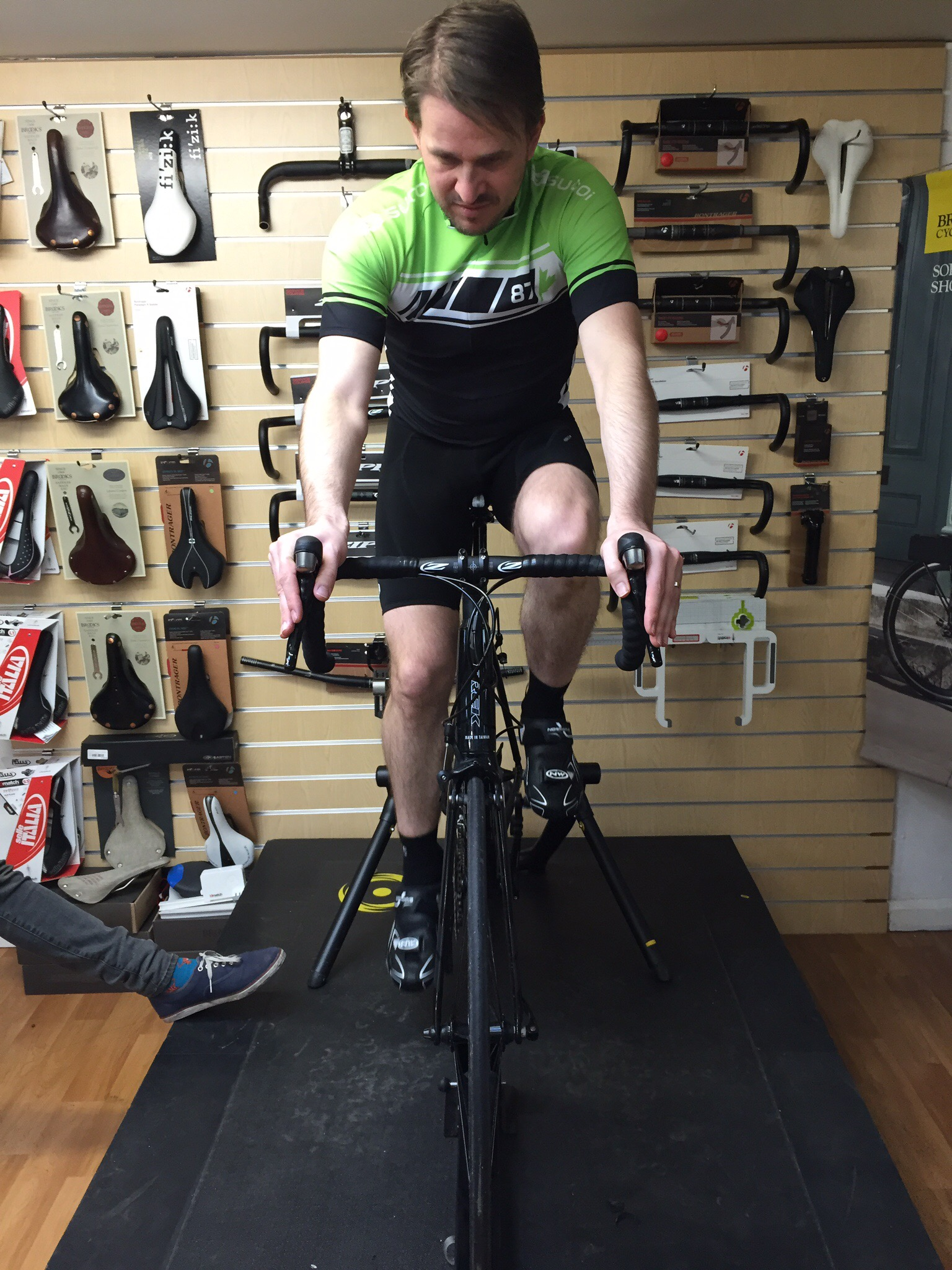 Bike fit knee alignment