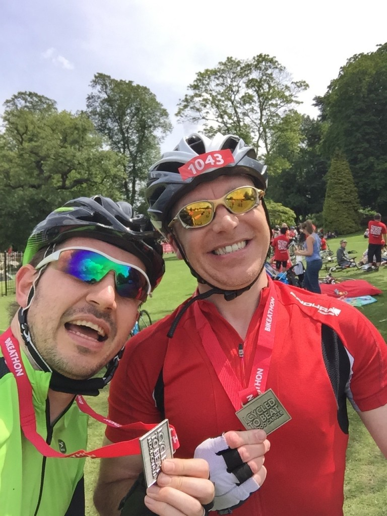The Tri Nerd and I having just completed 52 miles of the Birmingham Bikaton!