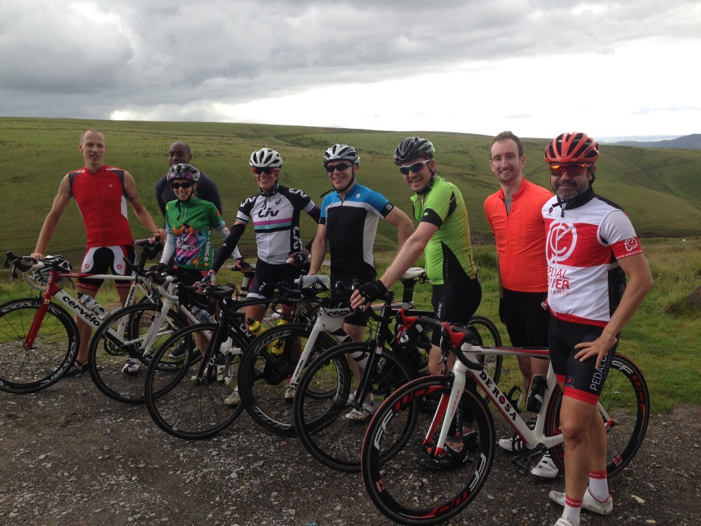 The top of the Blwch with Helen Jenkins and the other 220 Triathlon Competition Winners - A Weekend Training with Helen Jenkins - Photo Credit Marc Jenkins