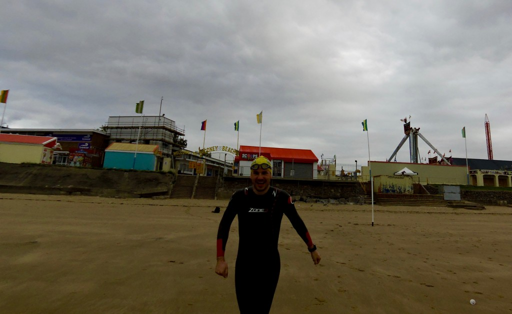 I beat Helen Jenkins out the sea!