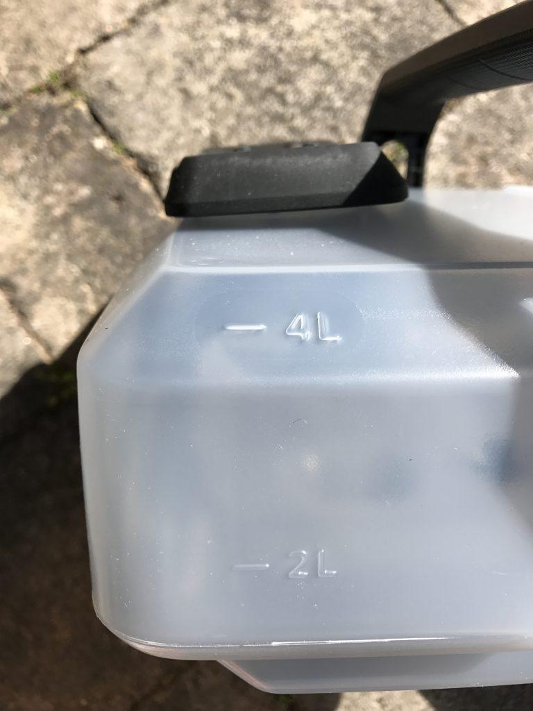 Kärcher OC3 Mobile Outdoor Cleaner - Capacity Markings