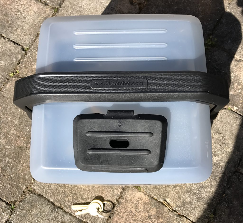 Kärcher OC3 Mobile Outdoor Cleaner - Above Keys for Scale